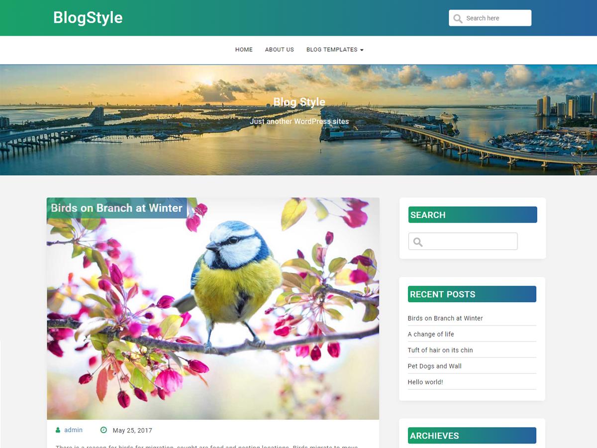 Download BlogStyle 1.7 – Free WordPress Theme