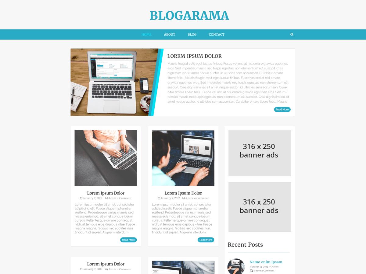 Download Blogarama 1.6 – Free WordPress Theme