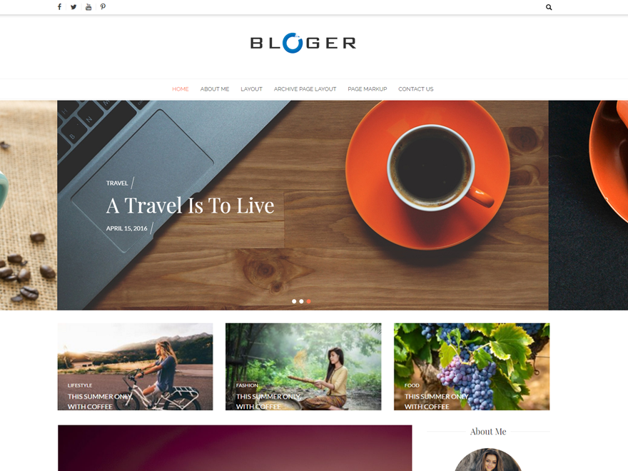Download Bloger 1.1.8 – Free WordPress Theme