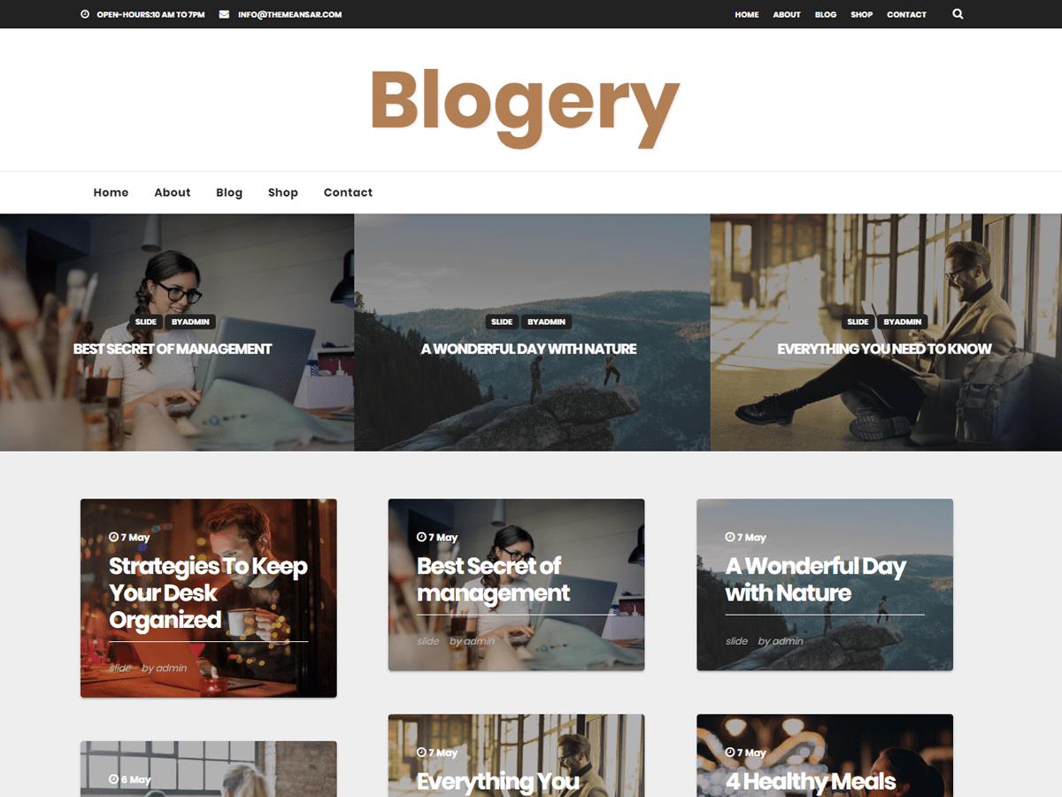 Download Blogery 0.4 – Free WordPress Theme
