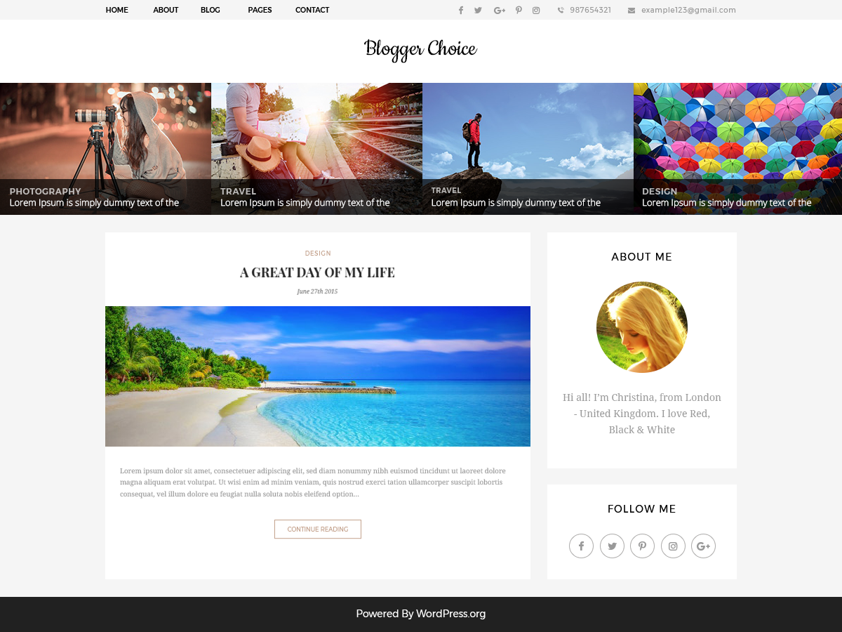 Download Blogger Choice 0.2.2 – Free WordPress Theme