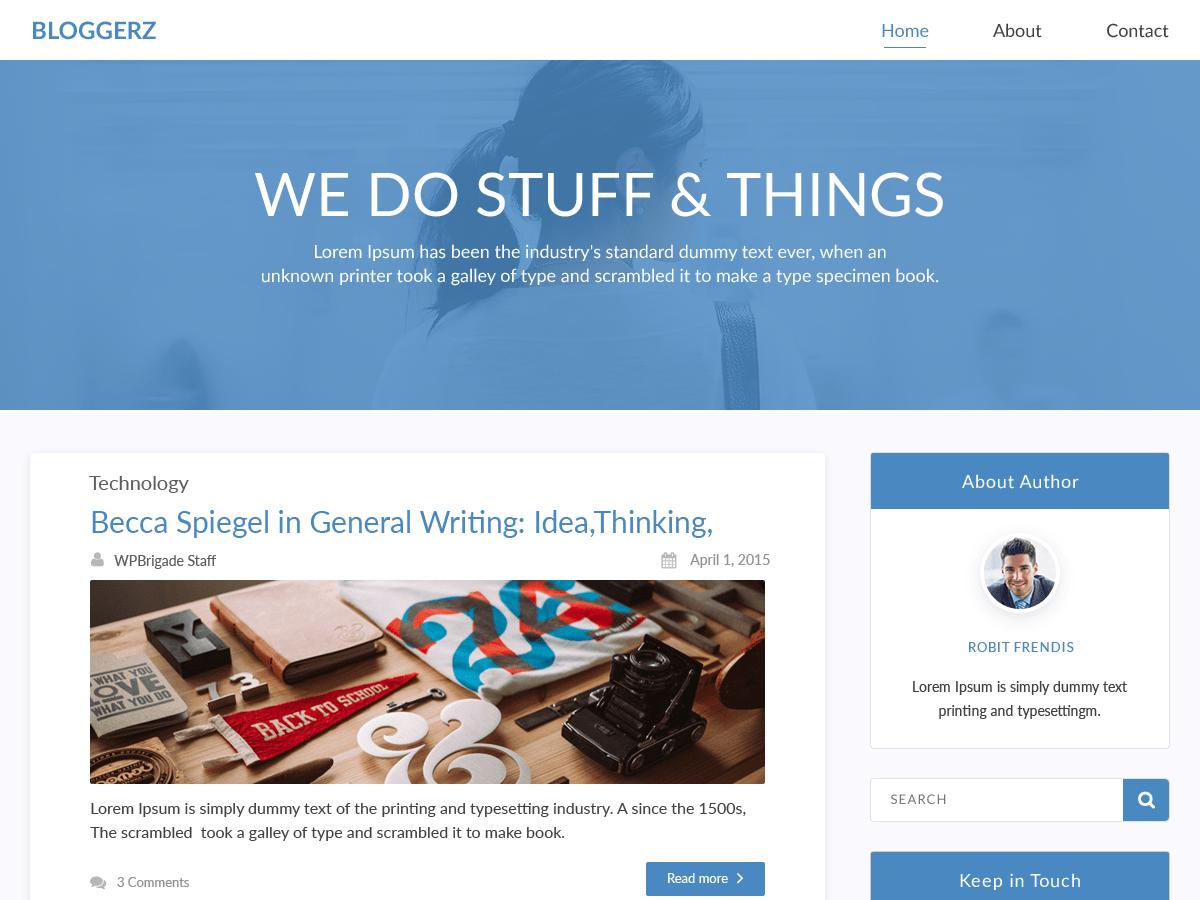 Download Bloggerz 1.0.14 – Free WordPress Theme