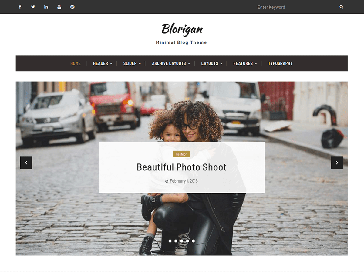 Download Blorigan 1.0.0 – Free WordPress Theme