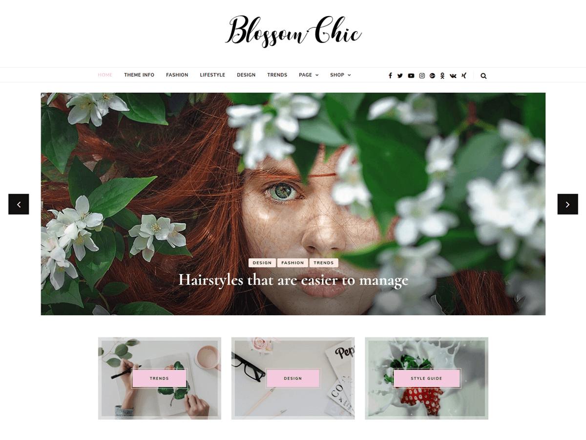 Download Blossom Chic 1.0.1 – Free WordPress Theme