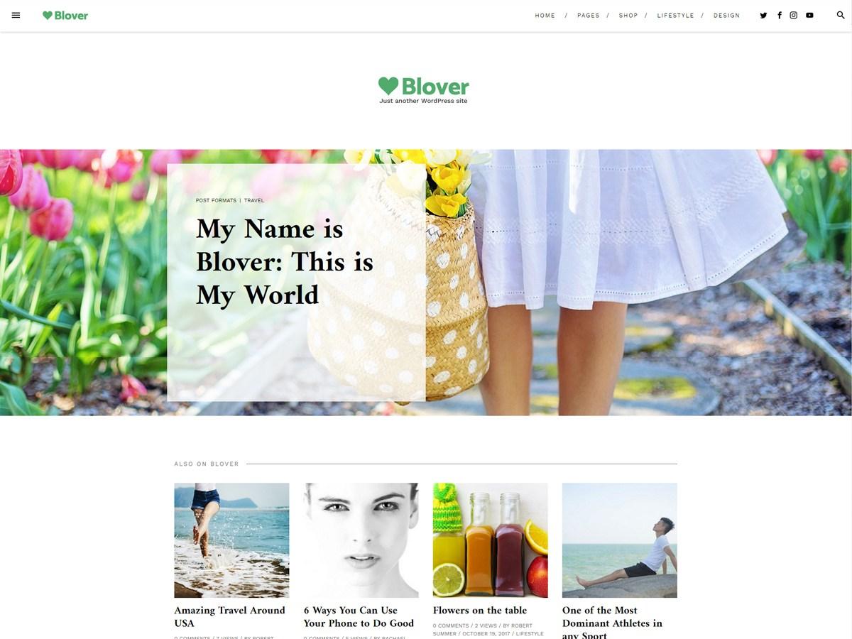 Download Blover 1.1.5.45 – Free WordPress Theme
