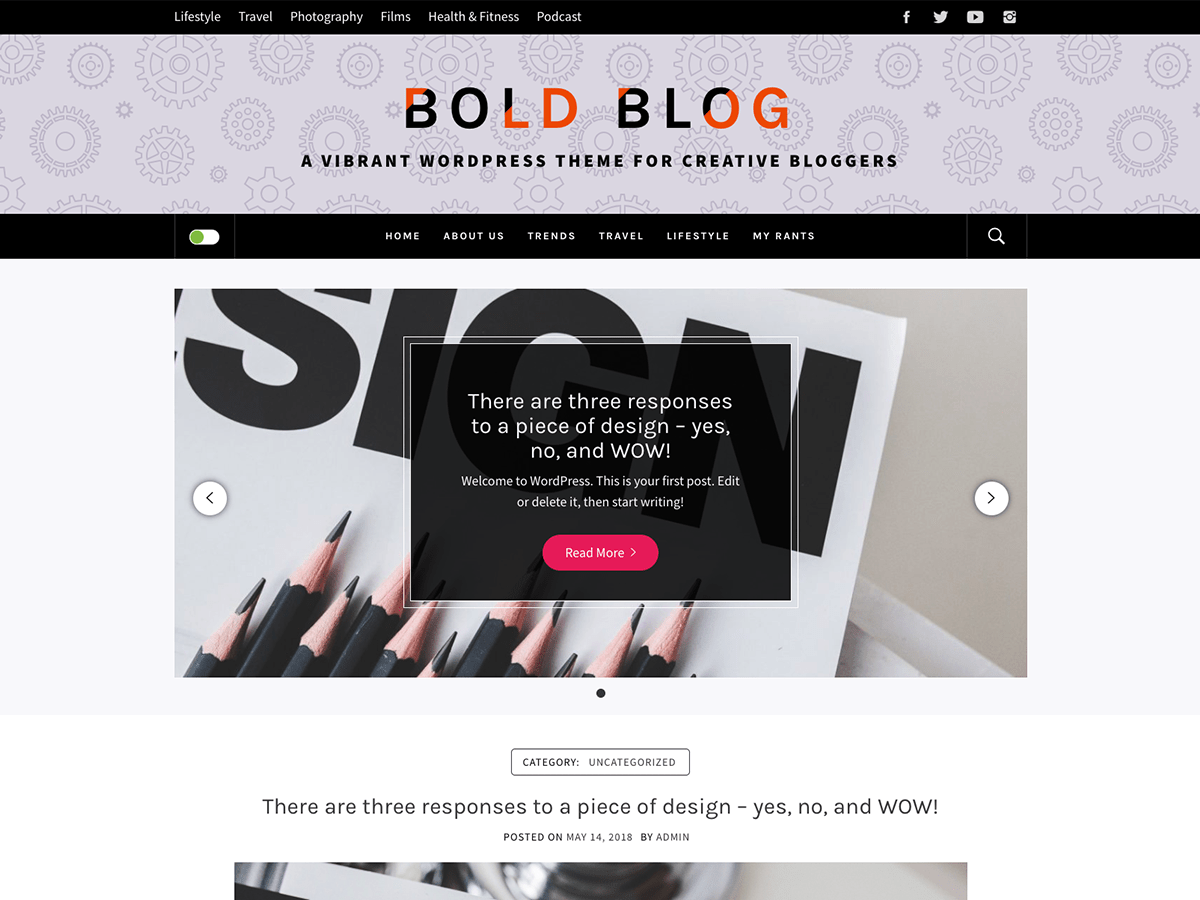 Download Bold Blog 1.0.0 – Free WordPress Theme