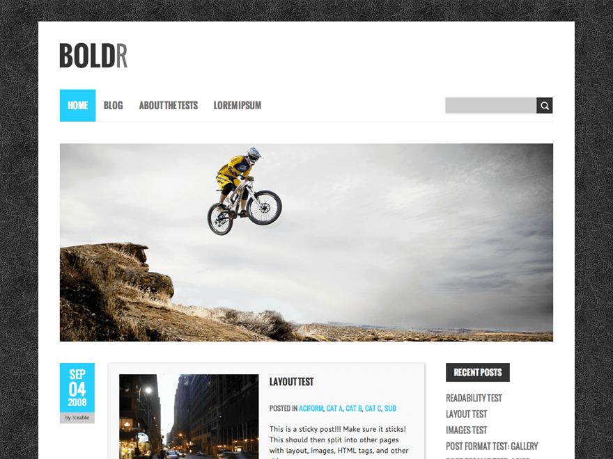 Download BoldR Lite 1.2.16 – Free WordPress Theme