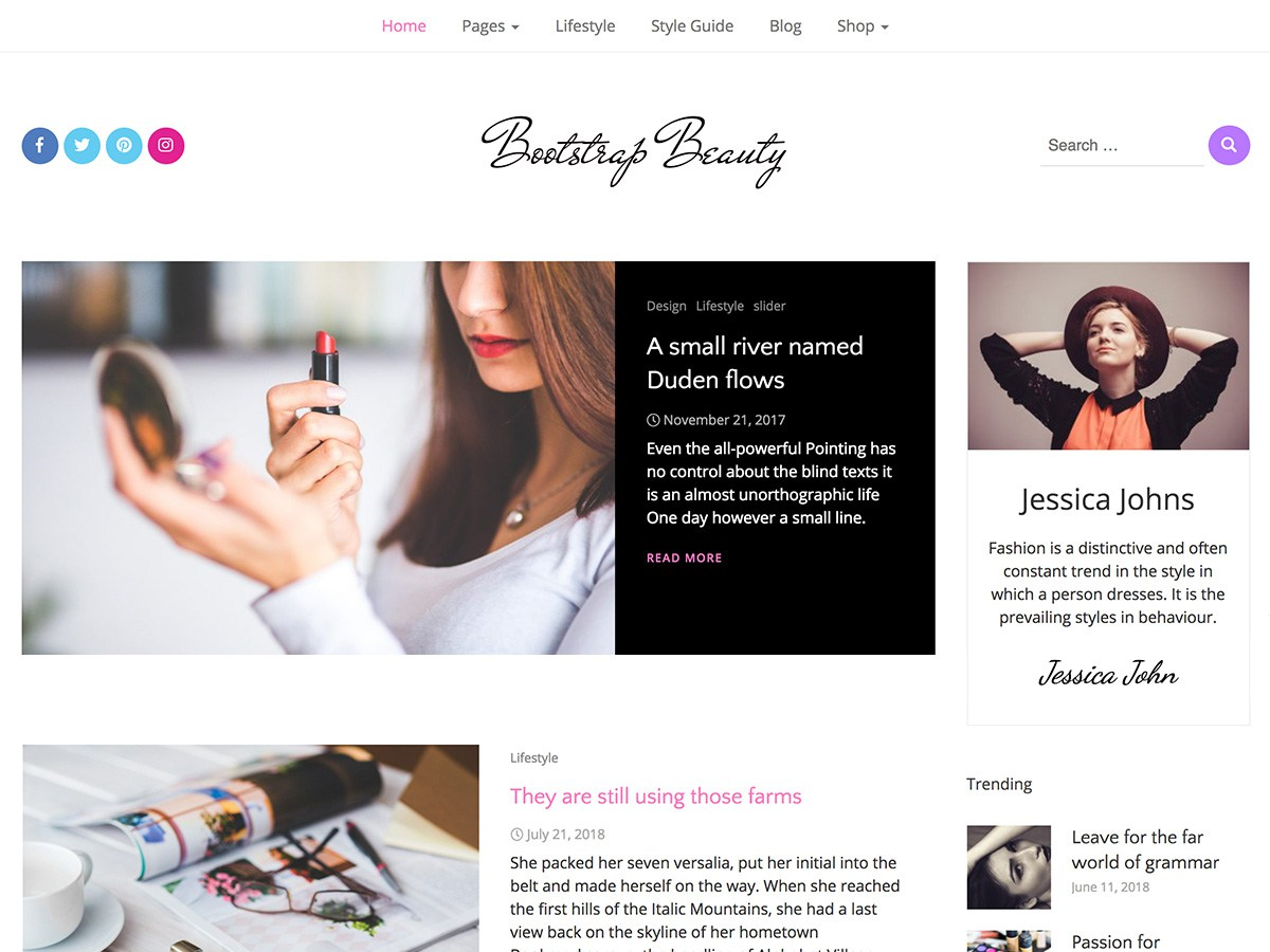 Download Bootstrap Beauty 1.0.2 – Free WordPress Theme