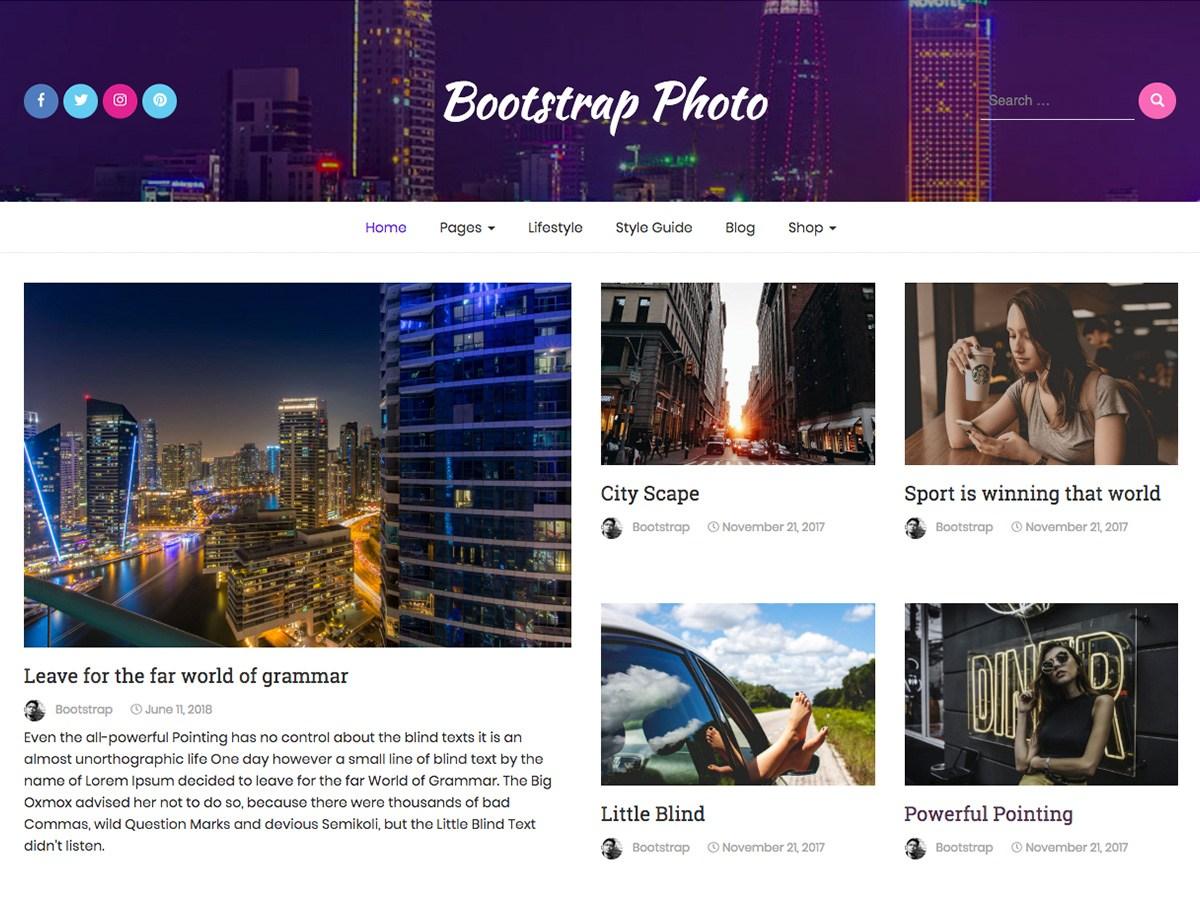 Download Bootstrap Photo 1.0.0 – Free WordPress Theme