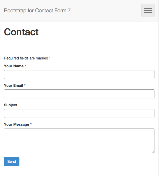 Download Bootstrap for Contact Form 7 1.4.8 – Free WordPress Plugin
