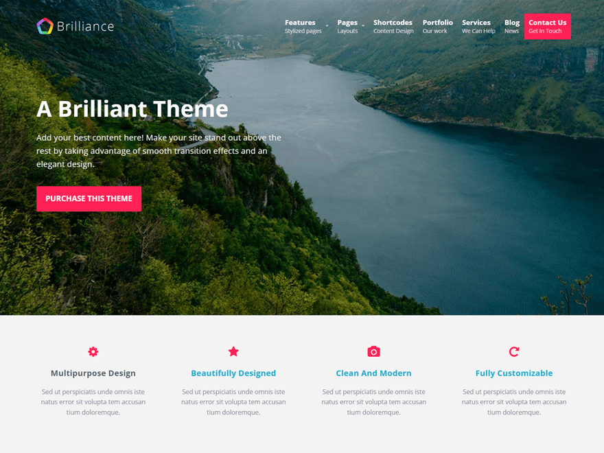 Download Brilliance 1.2.5 – Free WordPress Theme