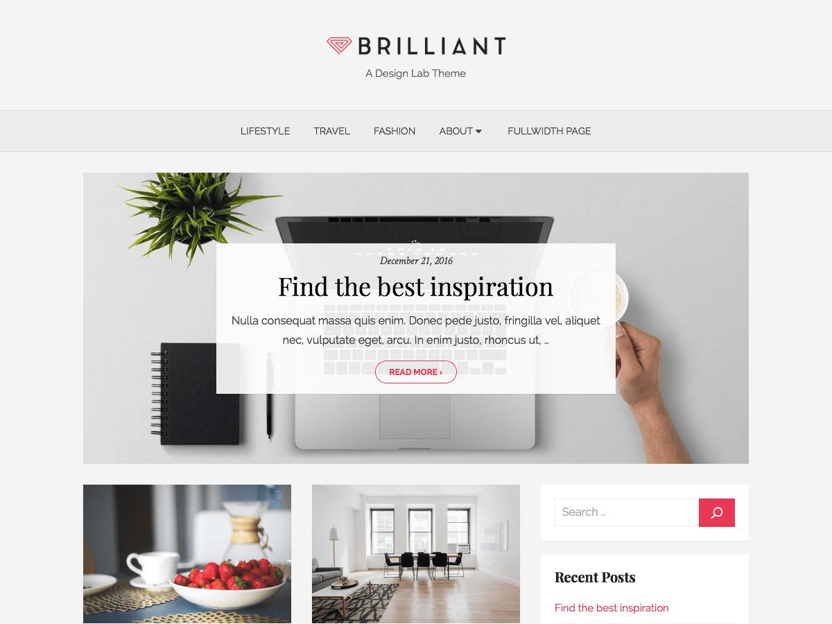 Download Brilliant 1.1.4 – Free WordPress Theme