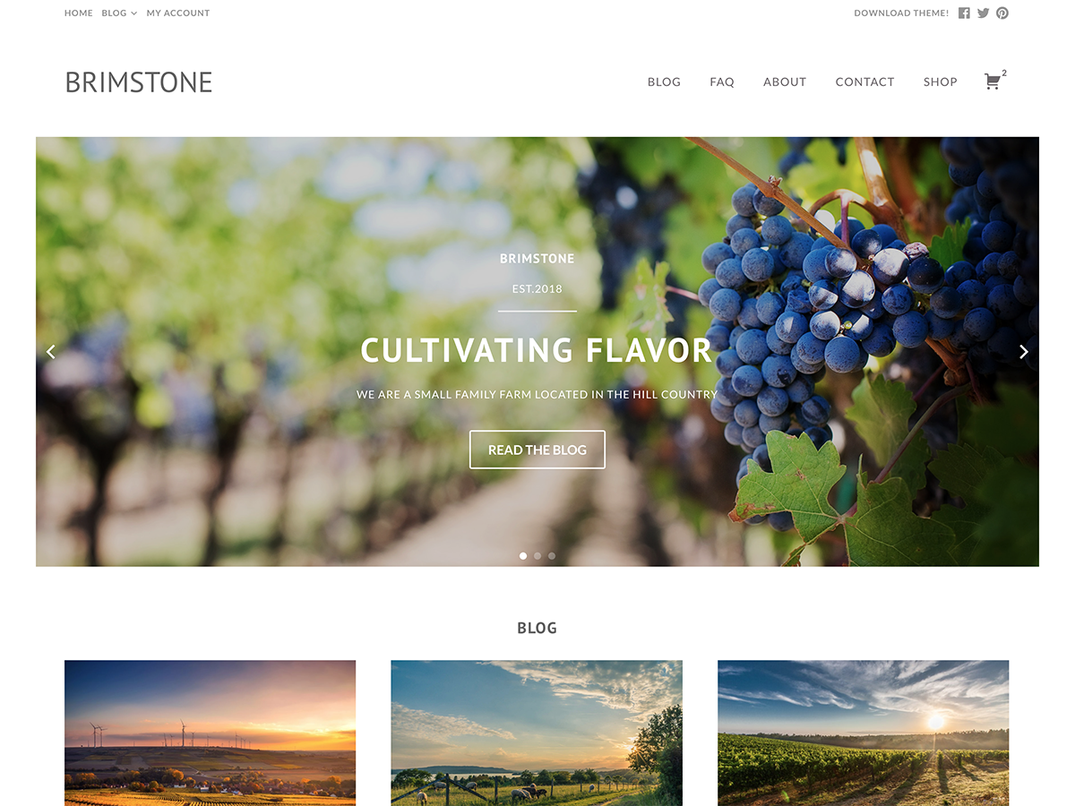 Download Brimstone 1.13 – Free WordPress Theme