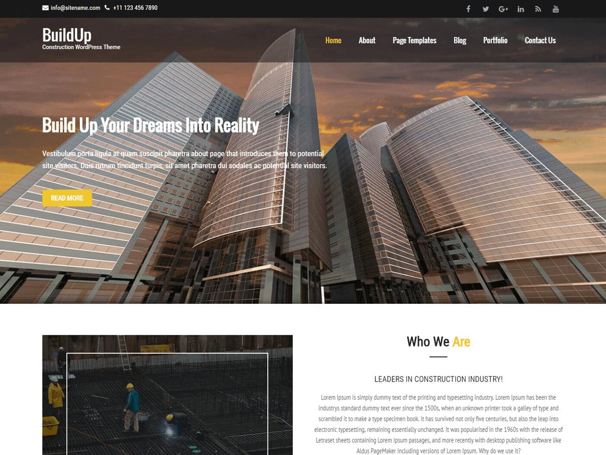 Download Buildup 1.2.2 – Free WordPress Theme