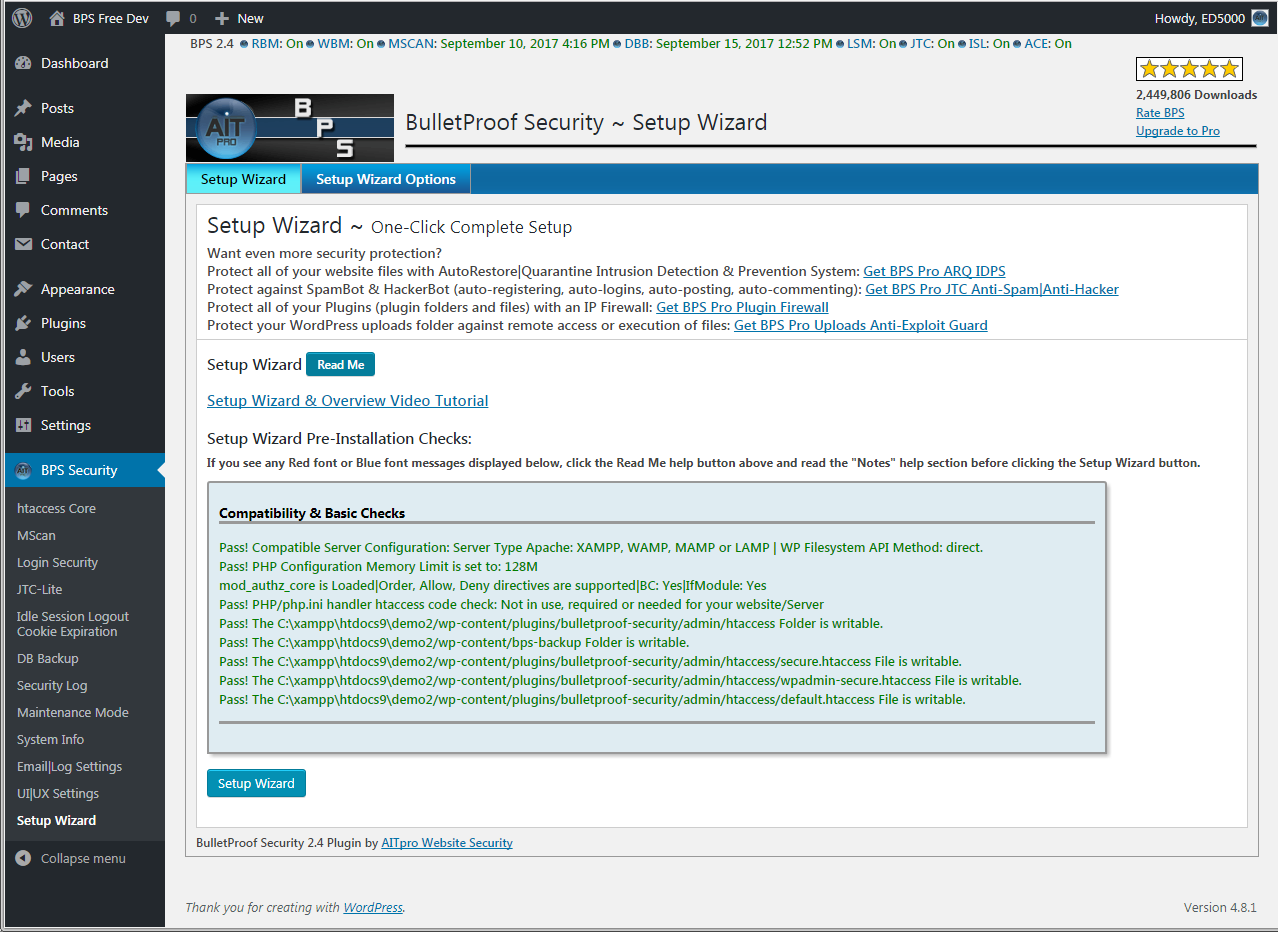Download BulletProof Security 3.2 – Free WordPress Plugin
