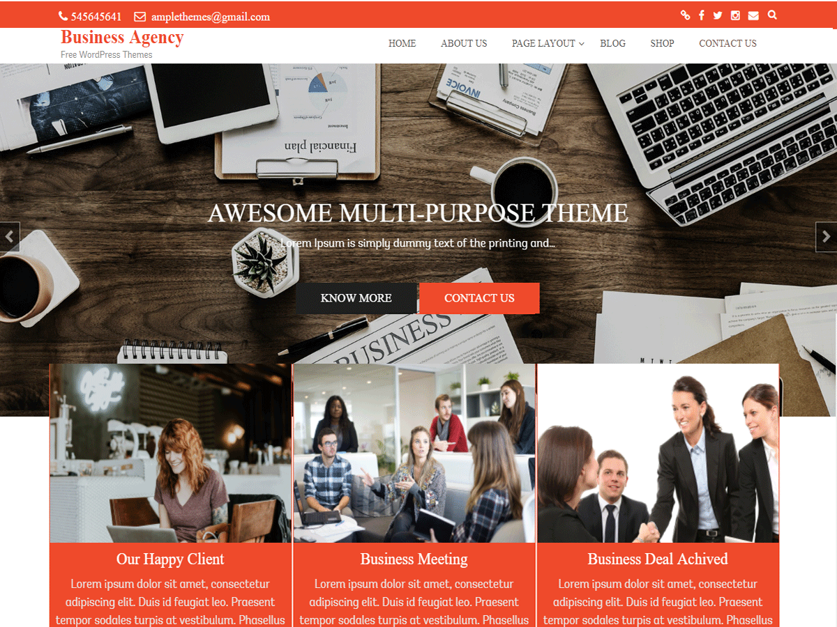 Download Business Agency 0.0.3 – Free WordPress Theme