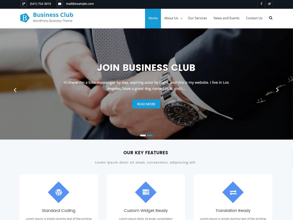 Download Business Club 1.1.1 – Free WordPress Theme
