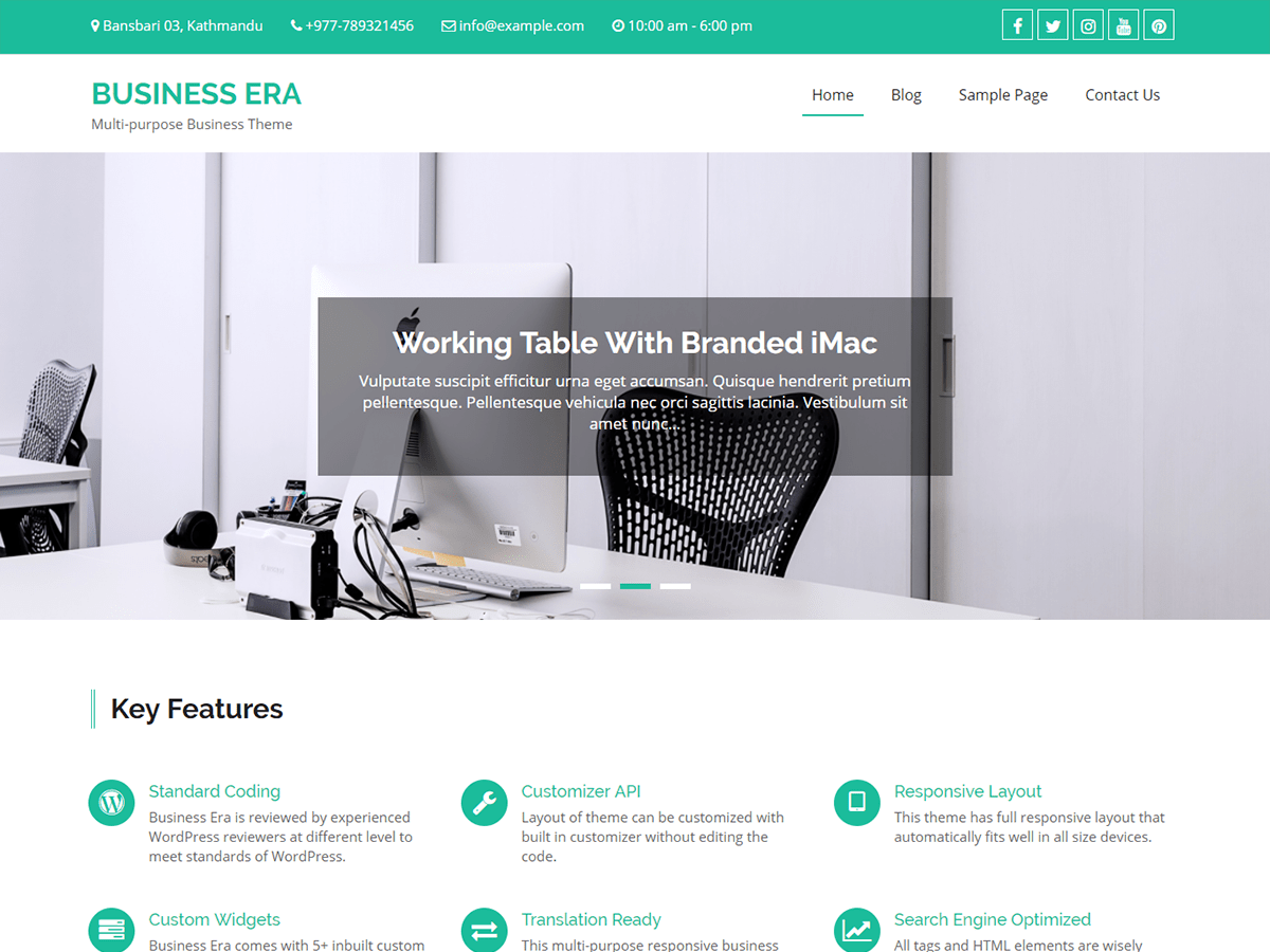 Download Business Era 1.1.5 – Free WordPress Theme