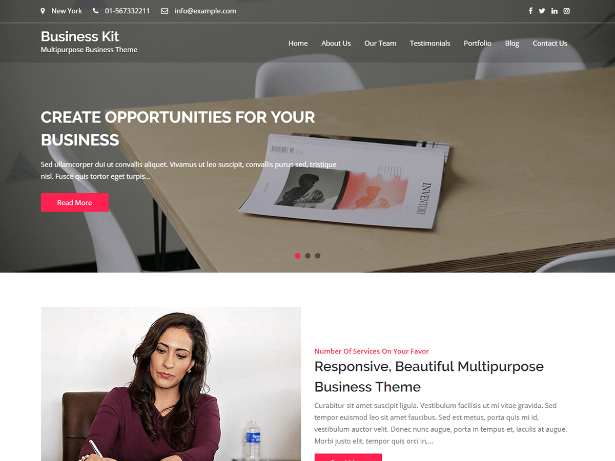 Download Business Kit 1.0.6 – Free WordPress Theme