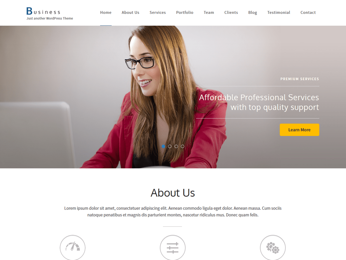 Download Business One Page 1.1.8 – Free WordPress Theme