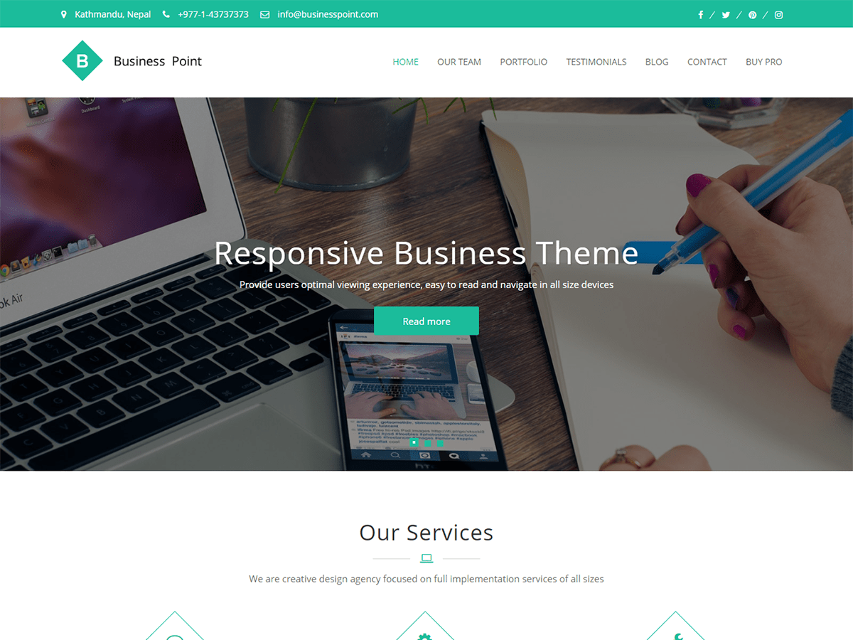 Download Business Point 2.0.1 – Free WordPress Theme