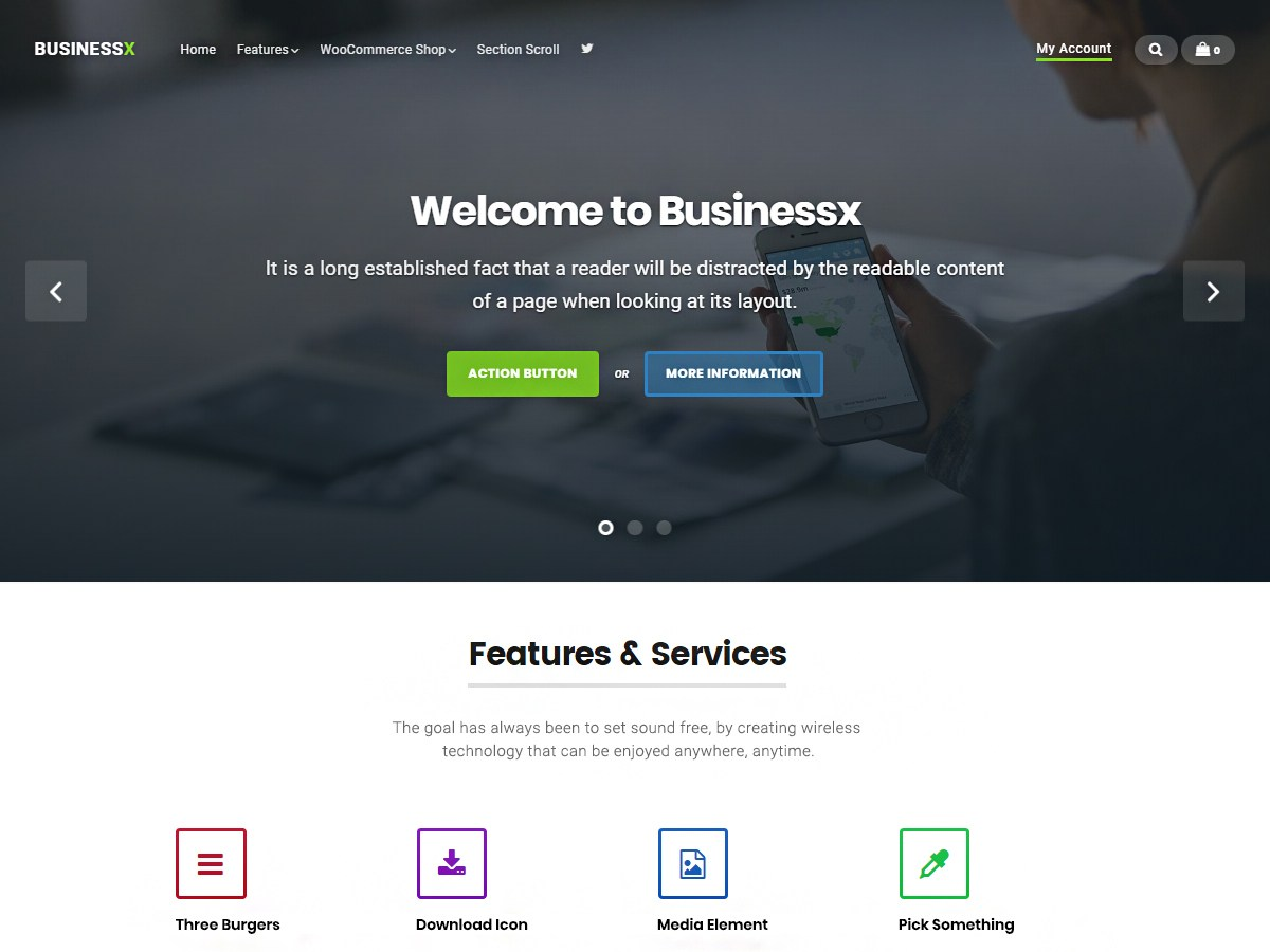 Download Businessx 1.0.5.7 – Free WordPress Theme