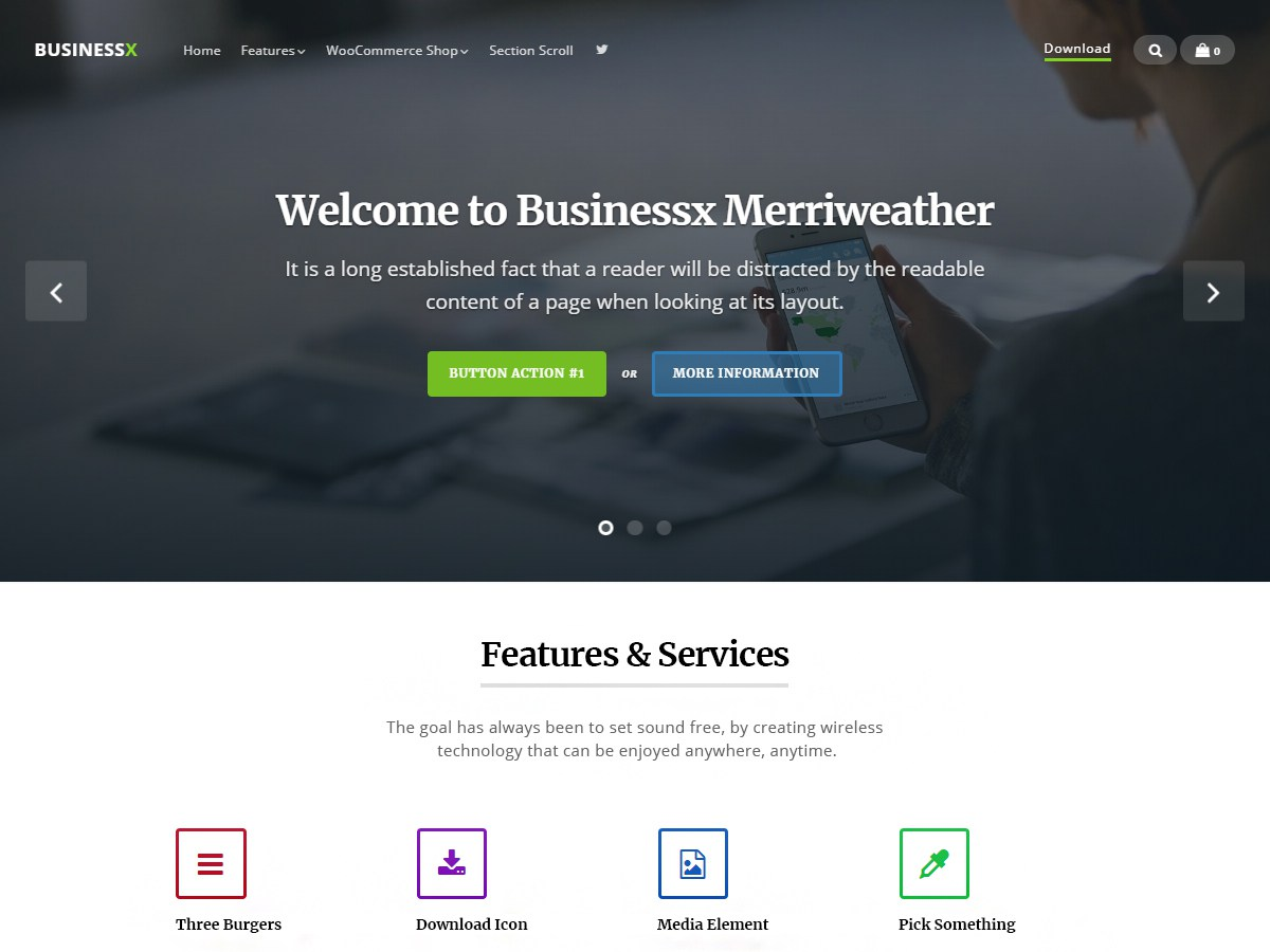 Download Businessx Merriweather 1.0.0 – Free WordPress Theme