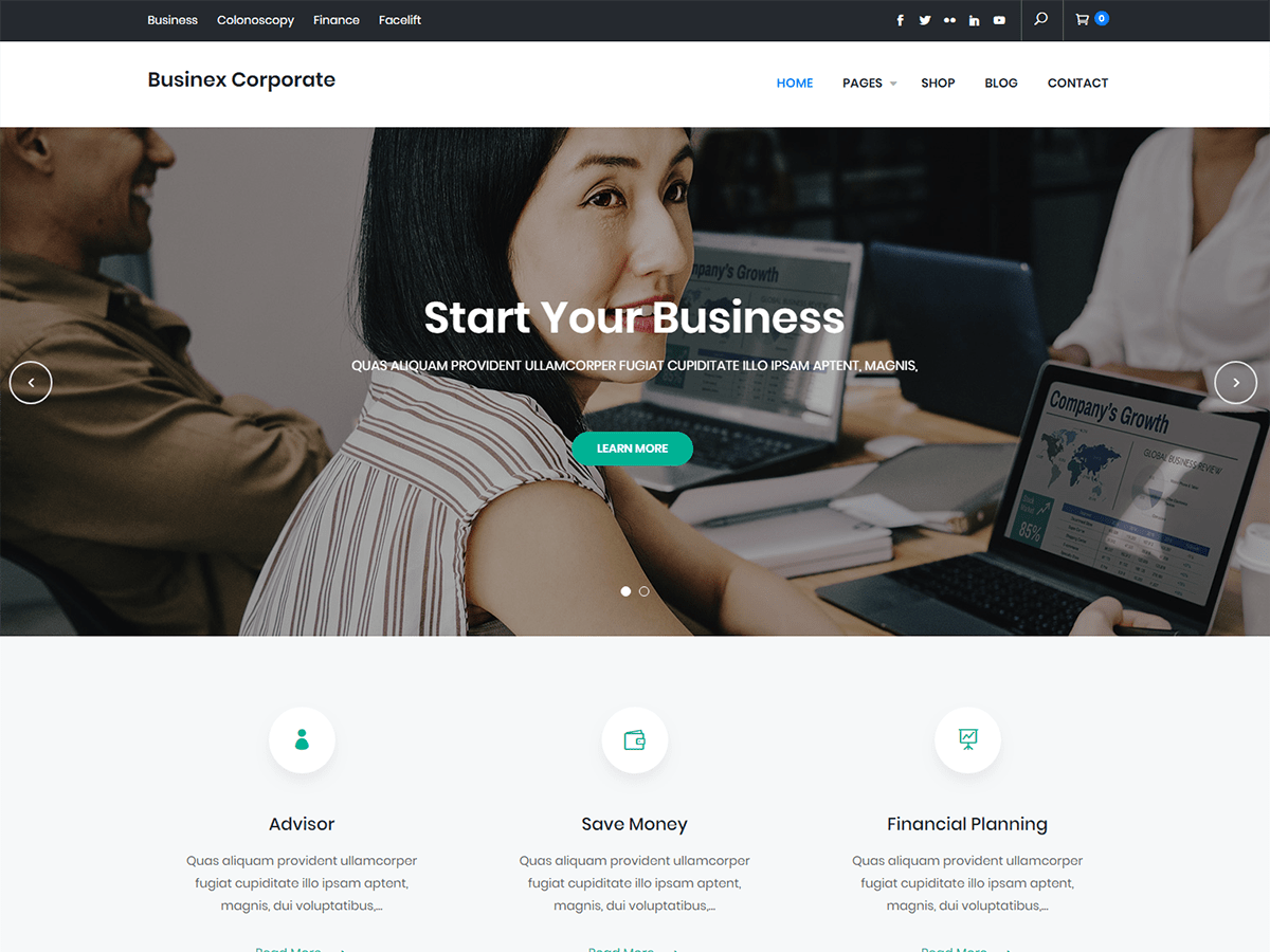 Download Businex Corporate 1.0.1 – Free WordPress Theme
