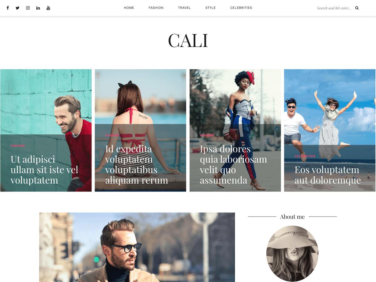Download Cali 1.0.1 – Free WordPress Theme