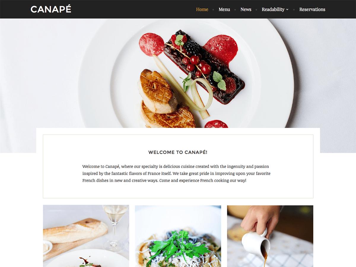 Download Canape 1.0.6 – Free WordPress Theme