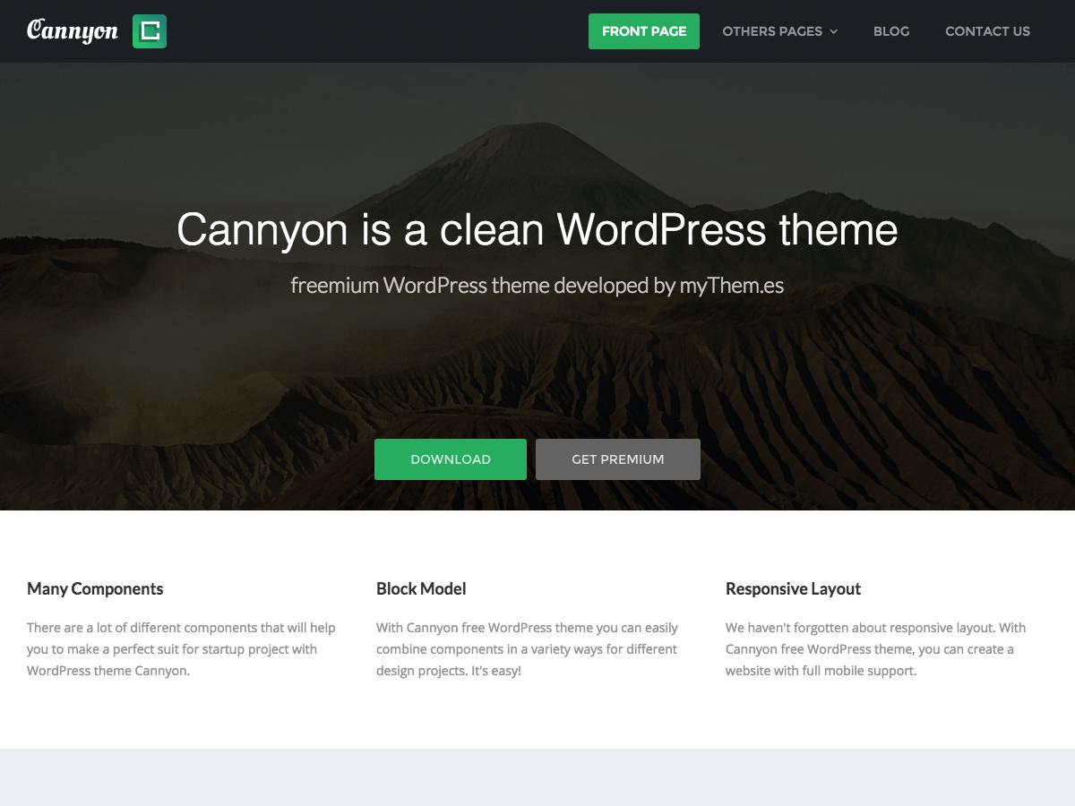 Download Cannyon 0.0.19 - Free WordPress Theme ✅ DownloadWPfree.com