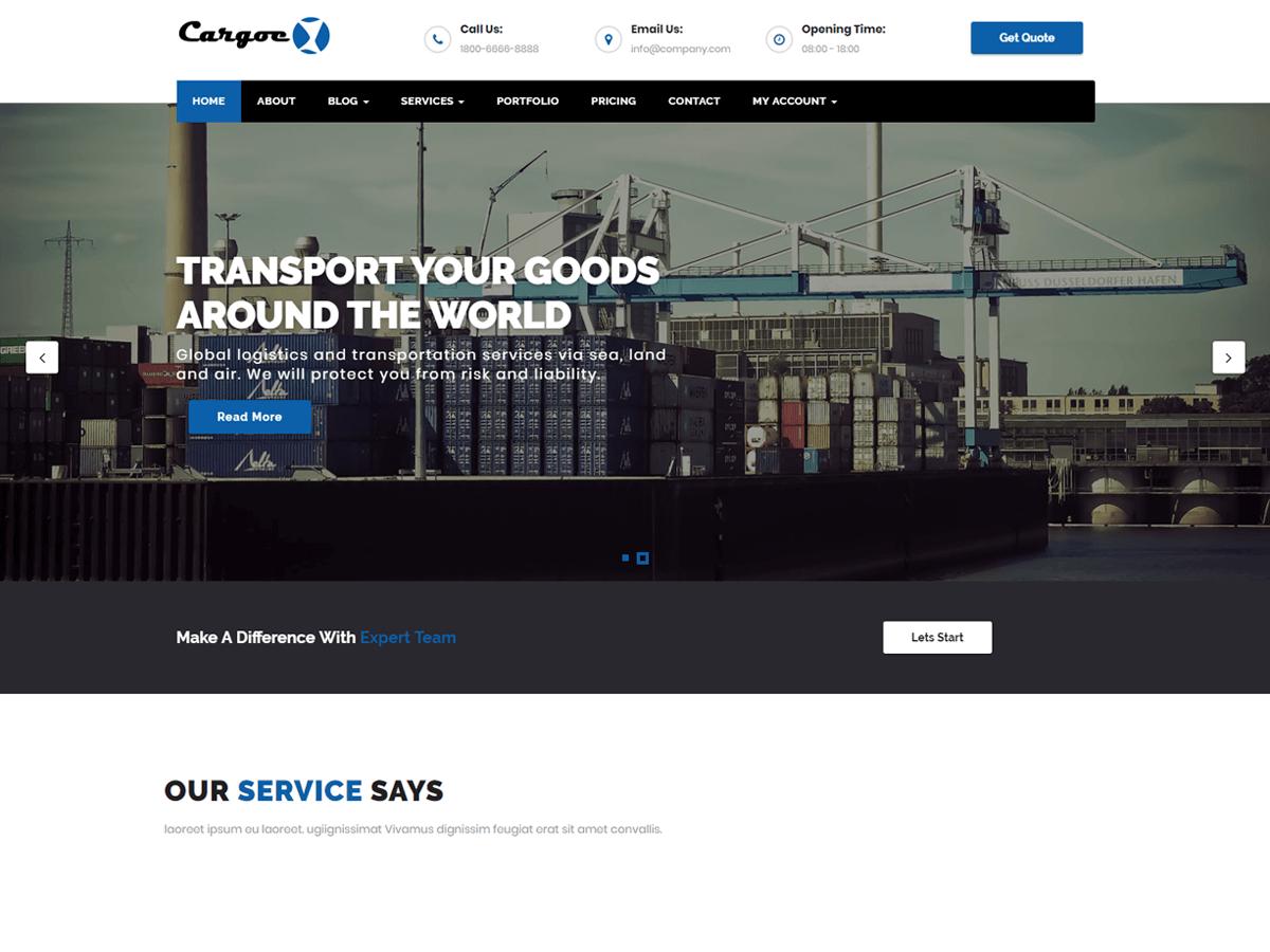 Download Cargoex 1.1 – Free WordPress Theme