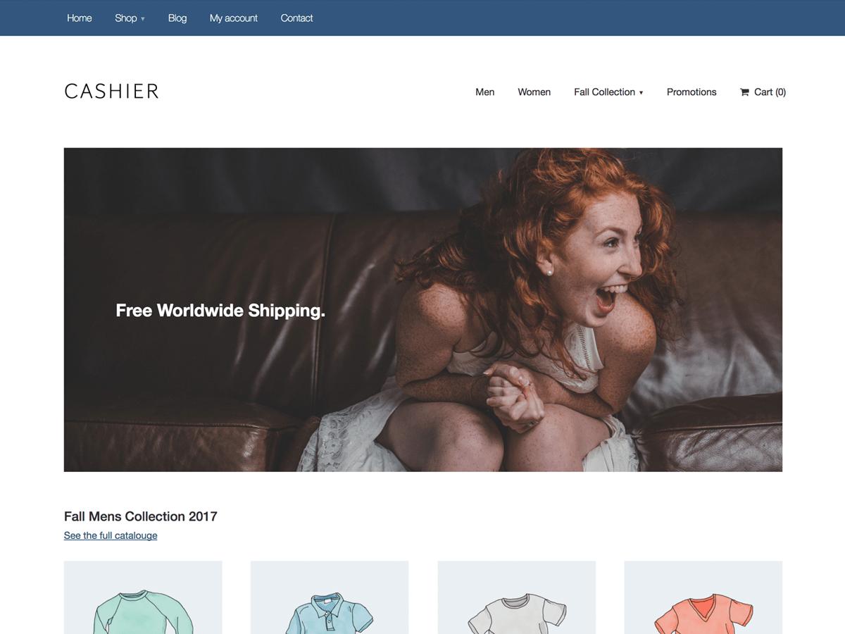 Download Cashier 1.0.5 – Free WordPress Theme