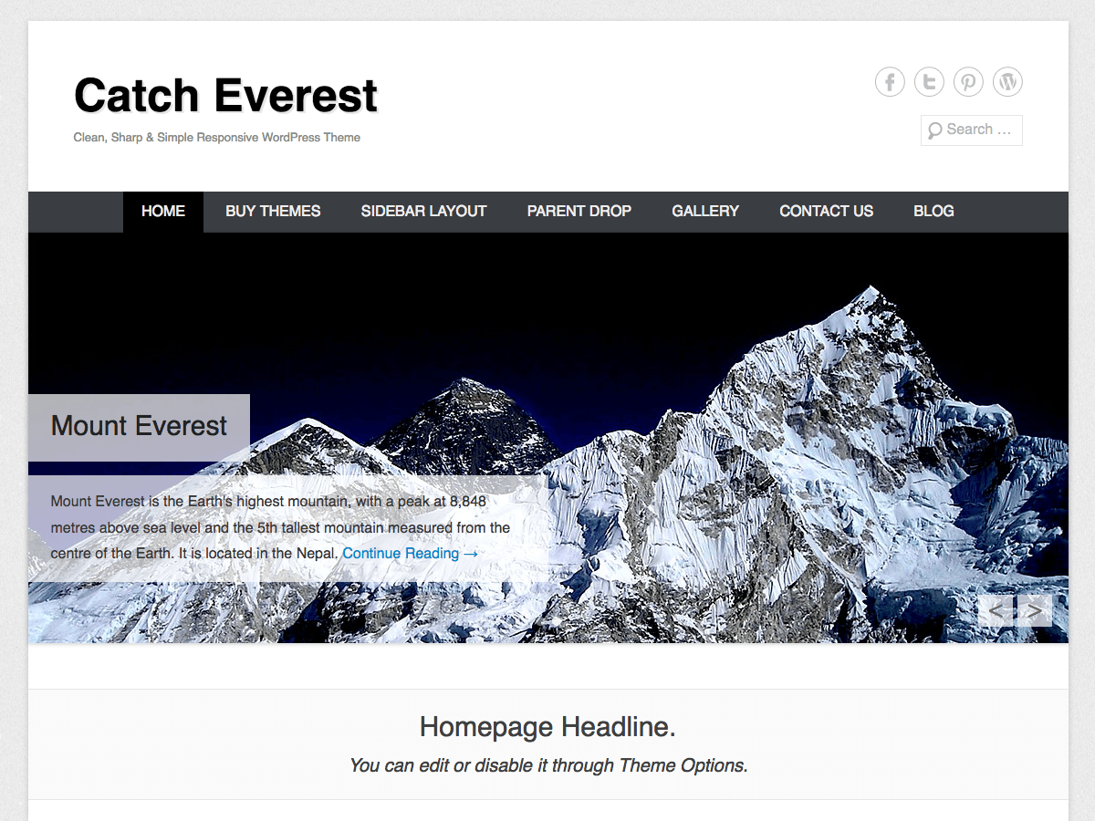 Download Catch Everest 3.1.2 – Free WordPress Theme
