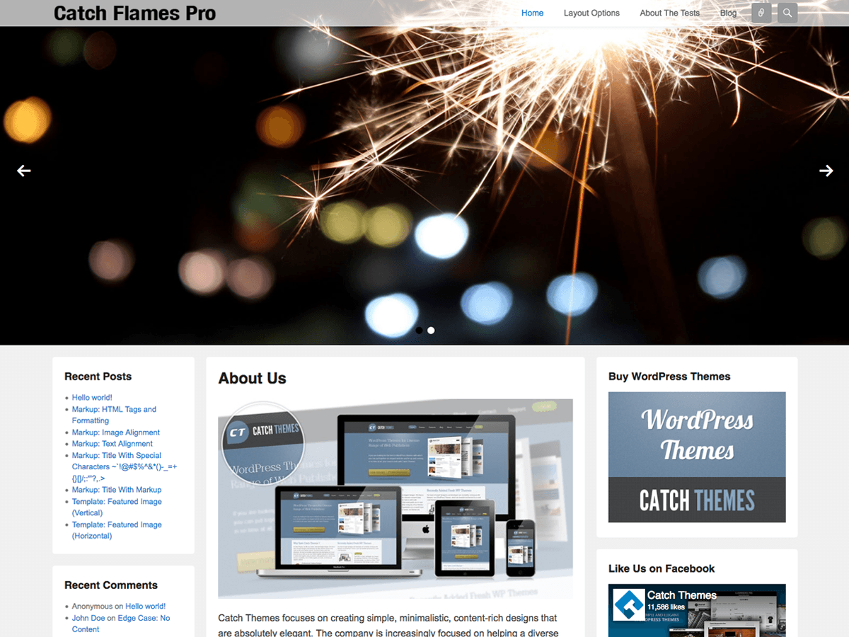 Download Catch Flames 3.3.4 – Free WordPress Theme