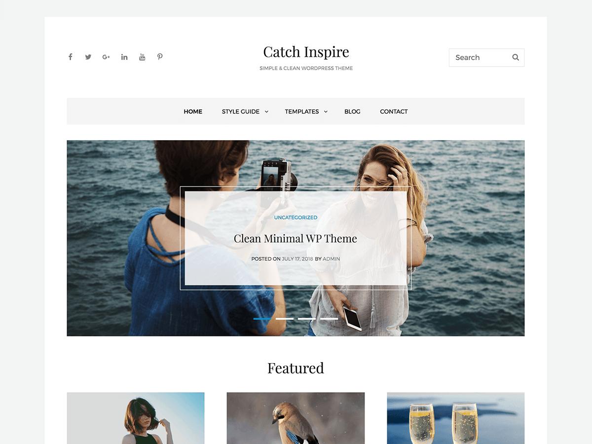 Download Catch Inspire 1.1 – Free WordPress Theme