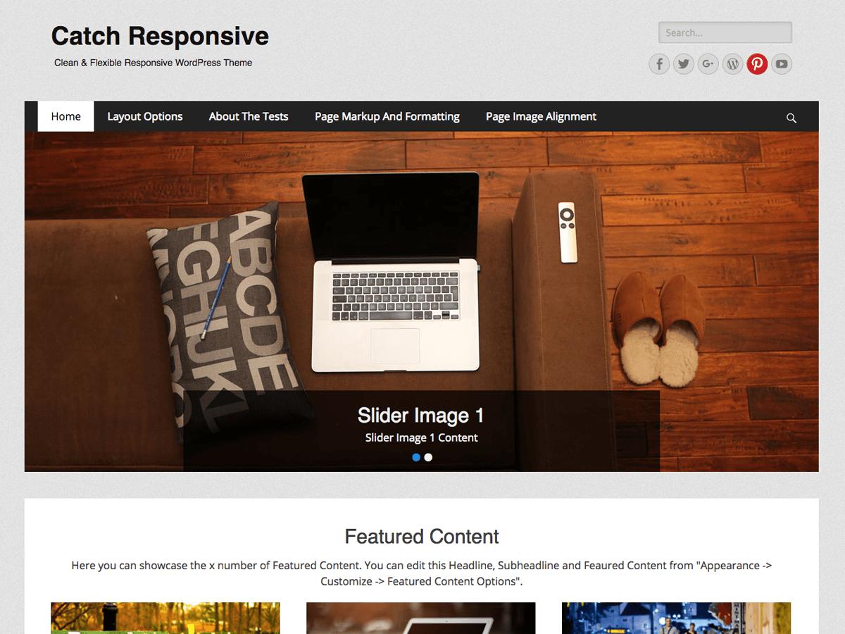 Download Catch Responsive 2.6.3 – Free WordPress Theme
