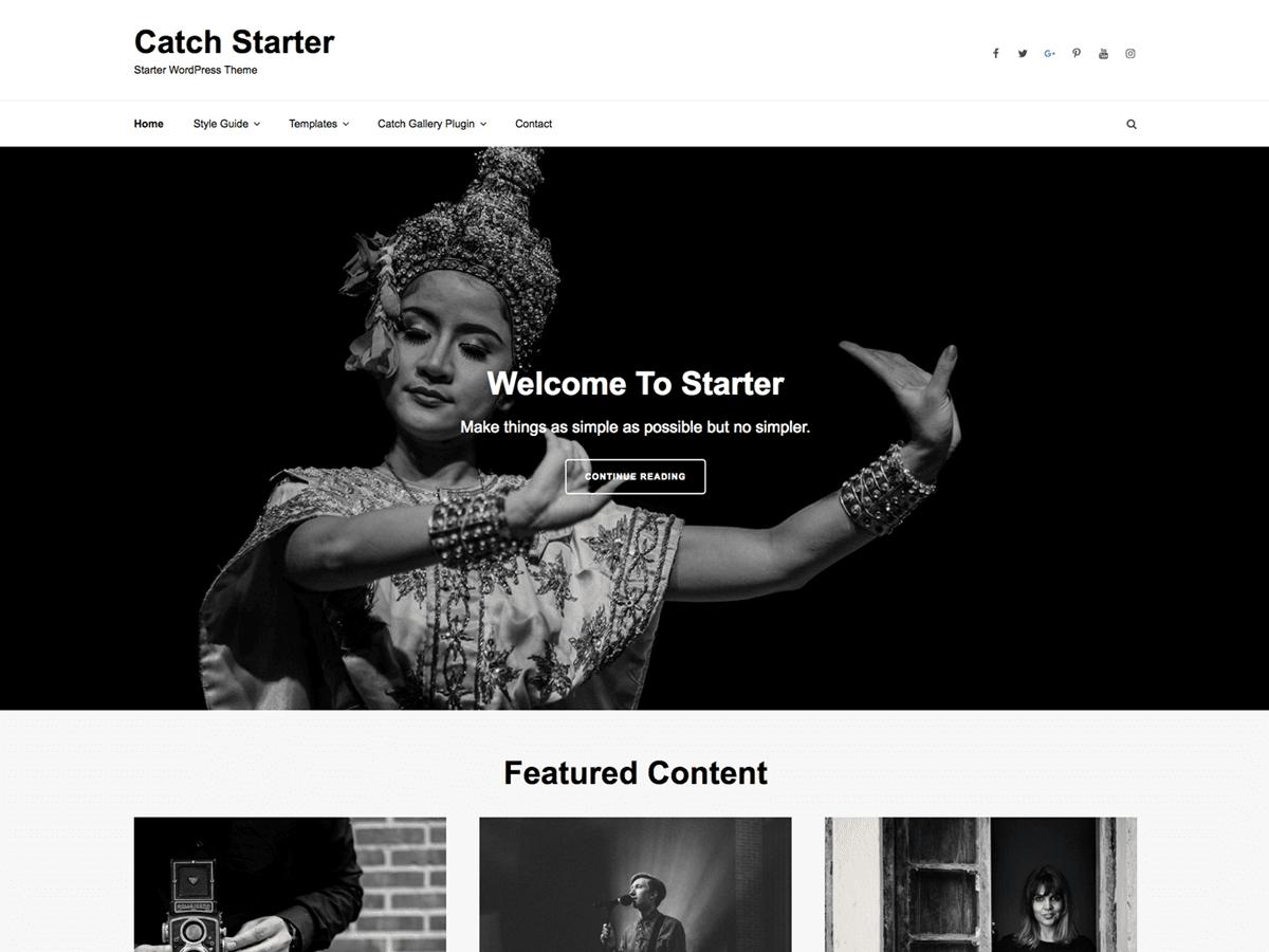Download Catch Starter 1.1.1 – Free WordPress Theme
