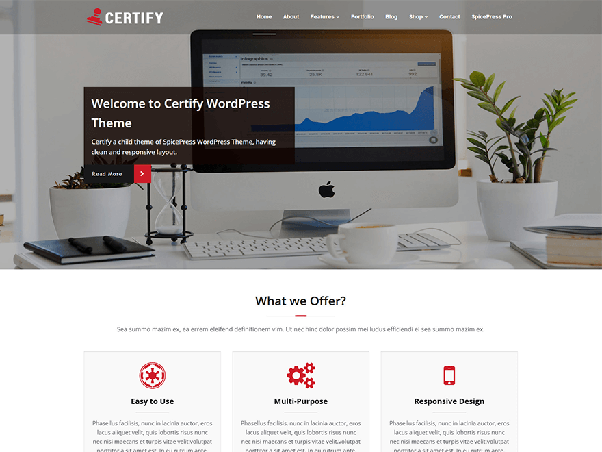 Download Certify 1.2.2 – Free WordPress Theme