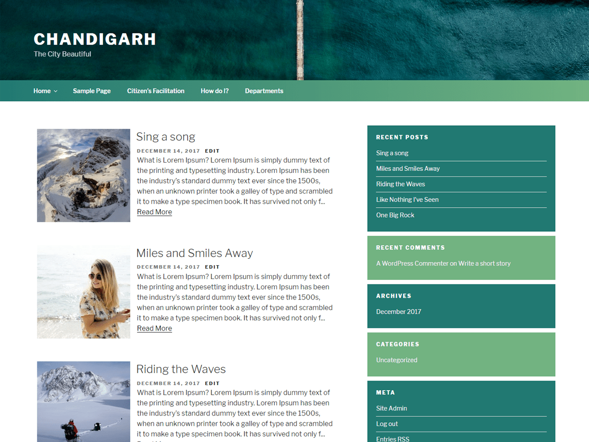 Download Chandigarh 1.3 – Free WordPress Theme