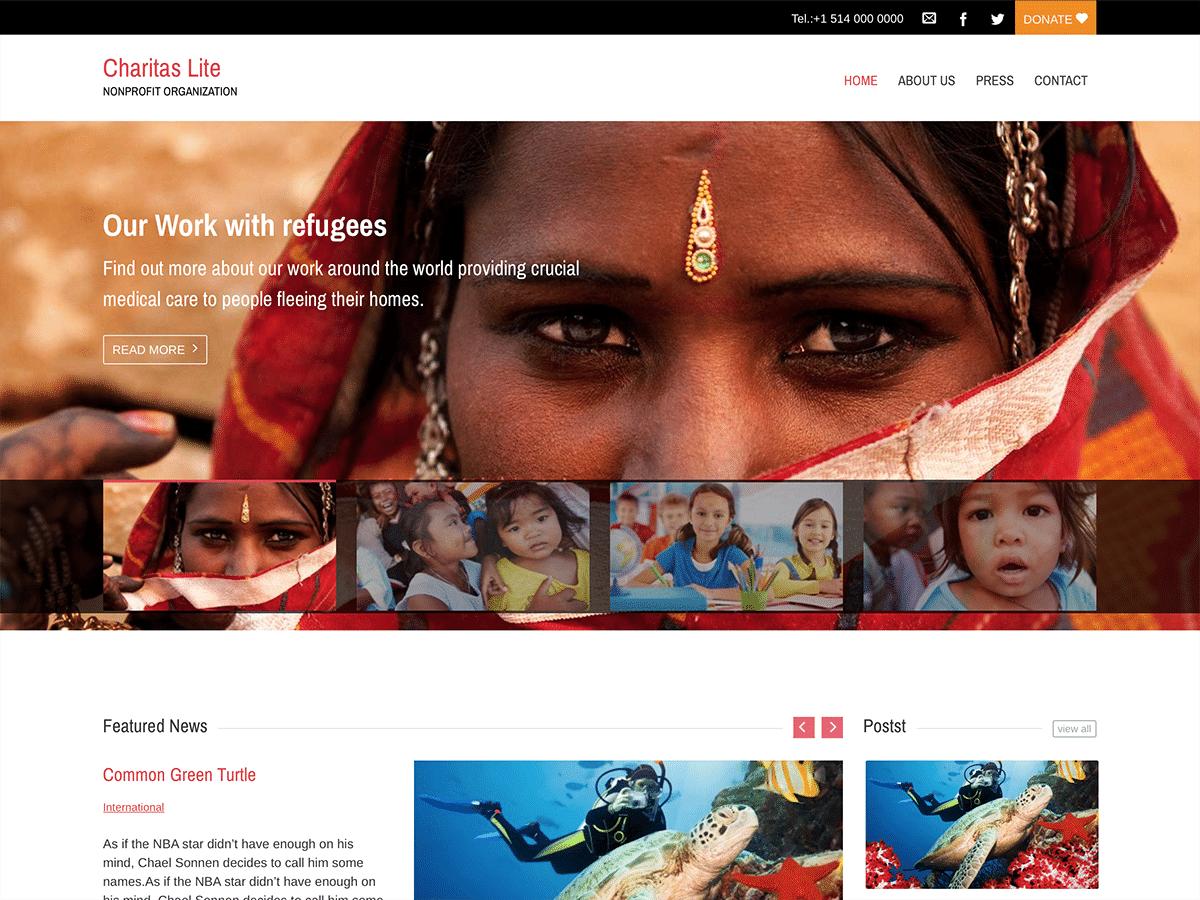 Download Charitas Lite 1.0.6 – Free WordPress Theme