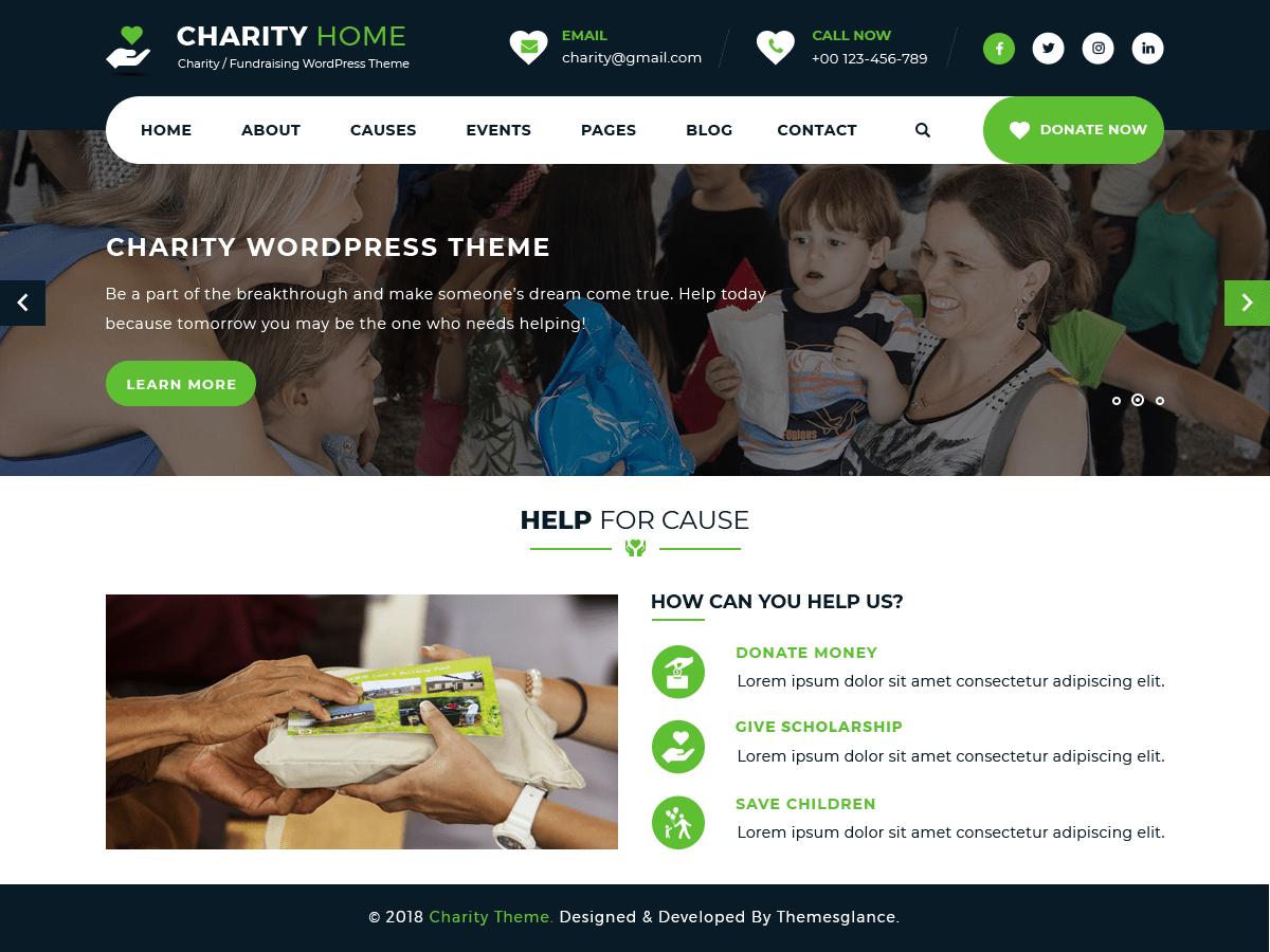 Download Charity Fundraiser 0.1 – Free WordPress Theme