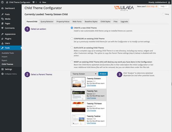 Download Child Theme Configurator 2.3.0.4 – Free WordPress Plugin