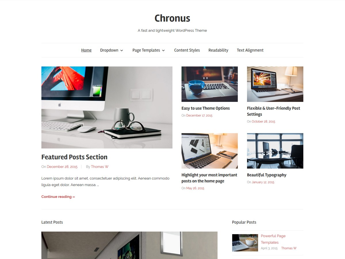 Download Chronus 1.4 – Free WordPress Theme