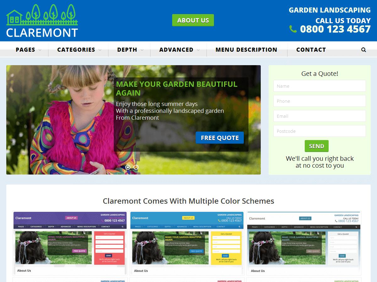 Download Claremont 1.4.7 – Free WordPress Theme