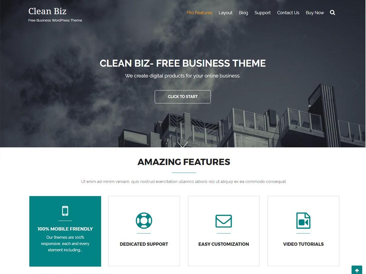 Download Clean Biz 1.1.1 – Free WordPress Theme