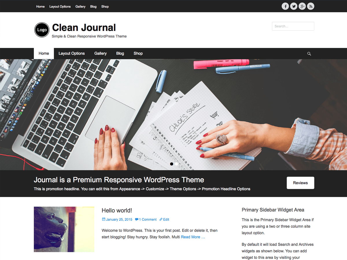 Download Clean Journal 2.5 – Free WordPress Theme