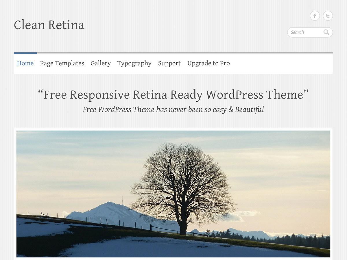 Download Clean Retina 3.0.3 – Free WordPress Theme