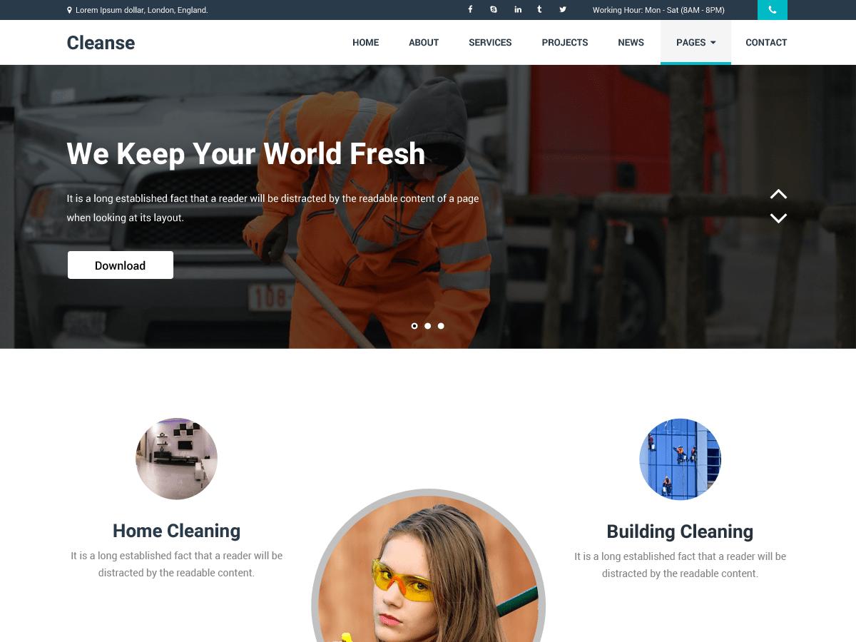 Download Cleanse 1.0.6 – Free WordPress Theme