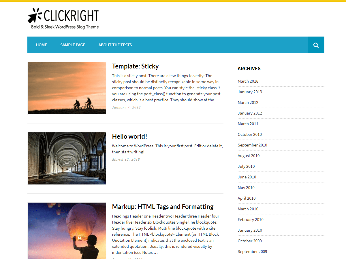 Download Clickright Lite 2.7.8 – Free WordPress Theme
